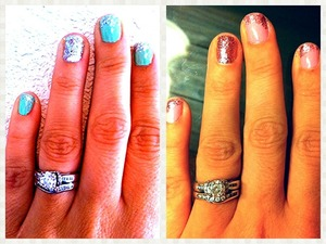 Mint & silver/pink & pink sparkles