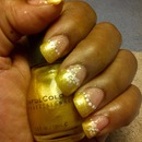 Gold Acrylic Nials