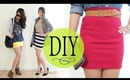 DIY Bodycon Tube Skirt w/ Basic Tee (Sew & No Sew)