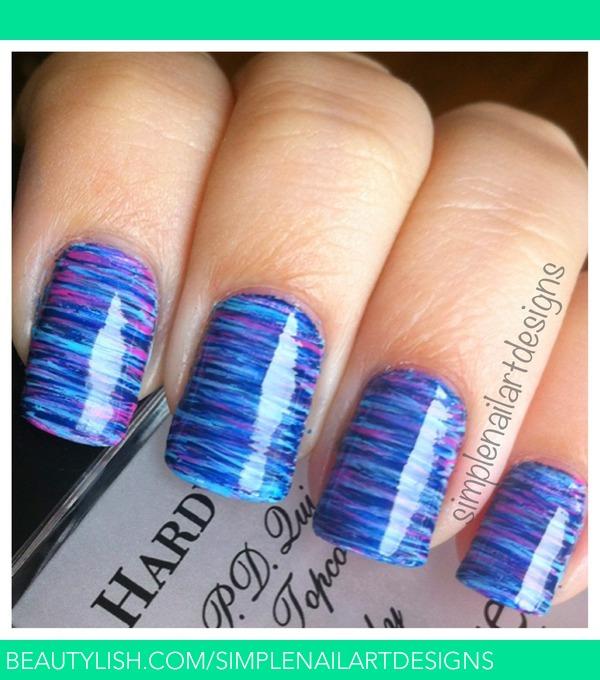 Fan Brush Striped Nails Simplenailartdesigns Ss