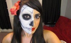 Easy Skull Face Makeup