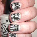 Bandage dress-inspired nails