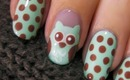 Cute Owl Nail Art