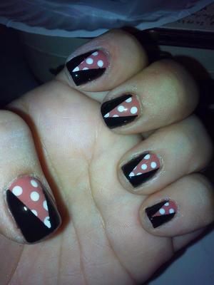 Dress inspired nail design