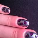 Blue/Purple leopard print
