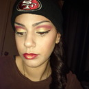 SF 49ERS RED AND GOLD INSPIRED