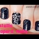 Metallic Leopard Nails