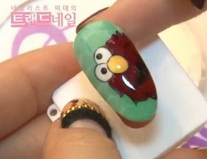 Do you like sesame street characters? Then why don't you do it on your nail? I have a sesame street nail art for you. Let's have a look! :D at http://saranail.blogspot.com