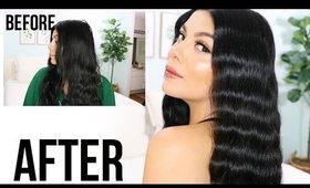 Easy 5 Minute Waves Hair Tutorial | SCCASTANEDA