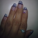 Purple French Dots <3