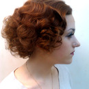 Greta Garbo inspired makeup and wig