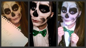 Lady Gaga Skull Inspired Makeup