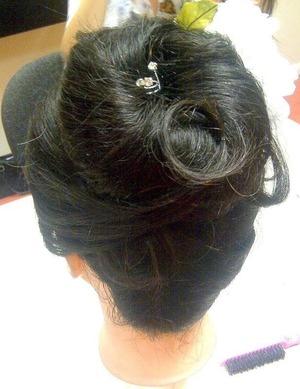 Wedding, bridal bun