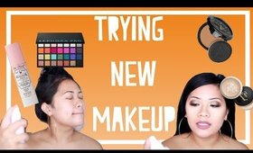 Full Face Trying 6 New Makeup Products/Makeup Haul First Impressions 2017 | makeupbyritz