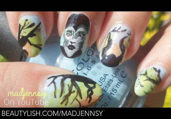 Maleficent Nail Art Madjennsy N S Madjennsy Photo