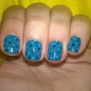 Polka Dot Blue Nail Art