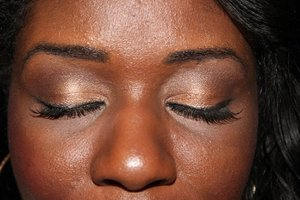 neutral eye look using NYX's Nude on  Nude