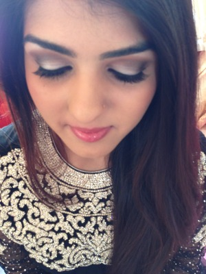 Indian style smokey eye makeup :) kept the lips simple but glossy.. I used mac lash 2 to give that natural but yet sexy look..