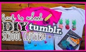 Back to School DIY Ideas: Tumblr inspired shirts
