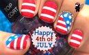 American Flag Nail Art by The Crafty Ninja