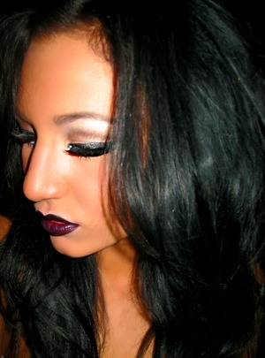 a super dark lip always adds instant edge and sex appeal :)