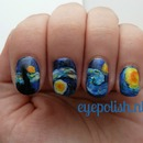 Nail artwork van Gogh