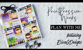 Print Pression Weeks | Plan With Me feat. Erica G Designs
