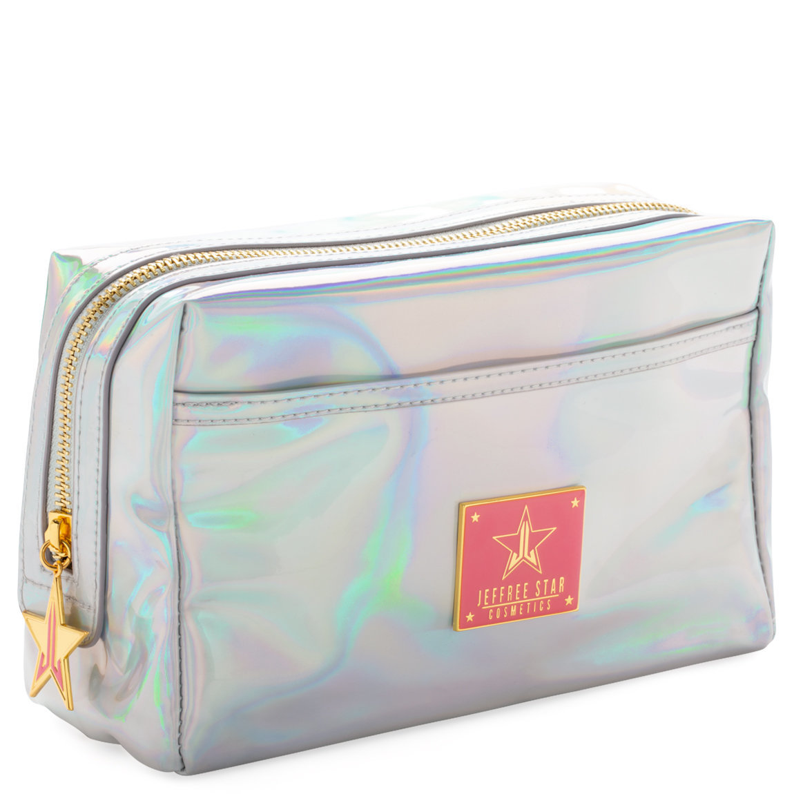 Jeffree Star Cosmetics Makeup Bag Holographic Silver product smear.