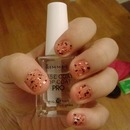 halloween polka dot nails