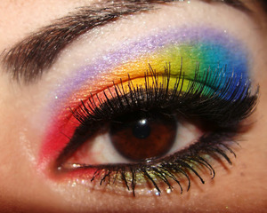 Yay! Ive always wanted to try a rainbow eye...success!
