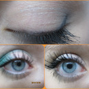 Blue Eye Shadow and Winged Eyeliner