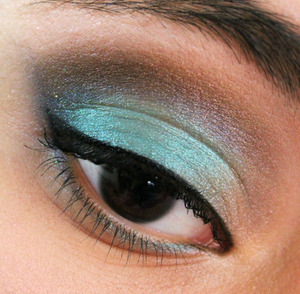 All the shadows were used from the Urban Decay 15th anniversary palette. The one on the lid is Deep End ♥