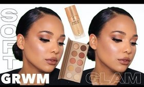 GRWM | Full Coverage Soft Glam Makeup | Testing New Products | KKW Beauty & More 💄
