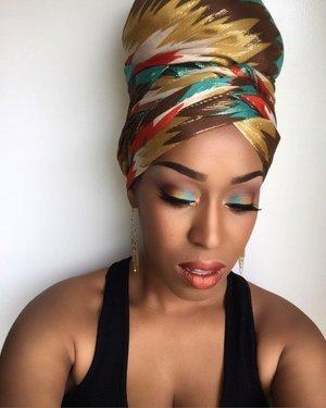 Arabian Nights👳🏾 #MUA #undiscovered_muas #highlight #contour #blackradiance #orangelipstick #eyeshadow #scarf #turquoise #orange #gold #makeup #maccosmetics #maybelline #essencecosmetics #bhcosmetics #realtechniques #morphebrushes #nyxcosmetics #nyccosmetics #elfcosmetics