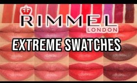 Rimmel Lipstick Swatches | Lasting Finish Extreme Lipstick Lip Swatches