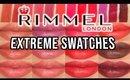 Rimmel Lipstick Swatches | Lasting Finish Extreme Lipstick Lip Swatches