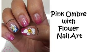 Pink Ombre with Flower Nail Art - Building Basics