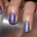 Purple Houndstooth