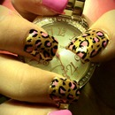 pink golden leopard