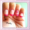 Gel nails! Pink french!