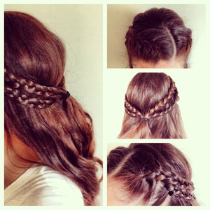 Lazy Day Braid Headband. Inspired by Game of Thrones