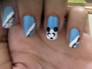 Baby boy inspired nails :)