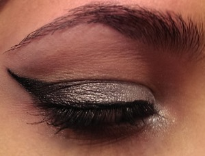 Black to silver gradient winged look.