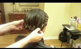 Two French Braids into One Asymmetrical Side Braid: Hair Tutorial