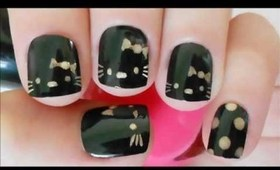 Hello Kitty Nail Tutorial