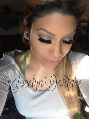 Just a simple smokey eye with some extra dramatic lashes a the darker color on my eyes is from the smash box beauty exposed pallet. My lashes are double stacked from ardell. Thanks for all the likes and feed back and the love follow me on Instagram @jocelyndollface thank you so much xoxo