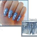 Denim Star Nails