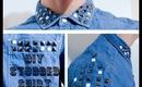 DIY Studded Shirt