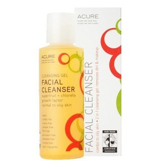 Acure Organics   facial cleanser gel superfruit + chlorella growth factor