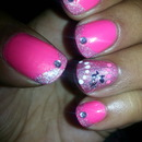 Pretty in Pink Princess mani